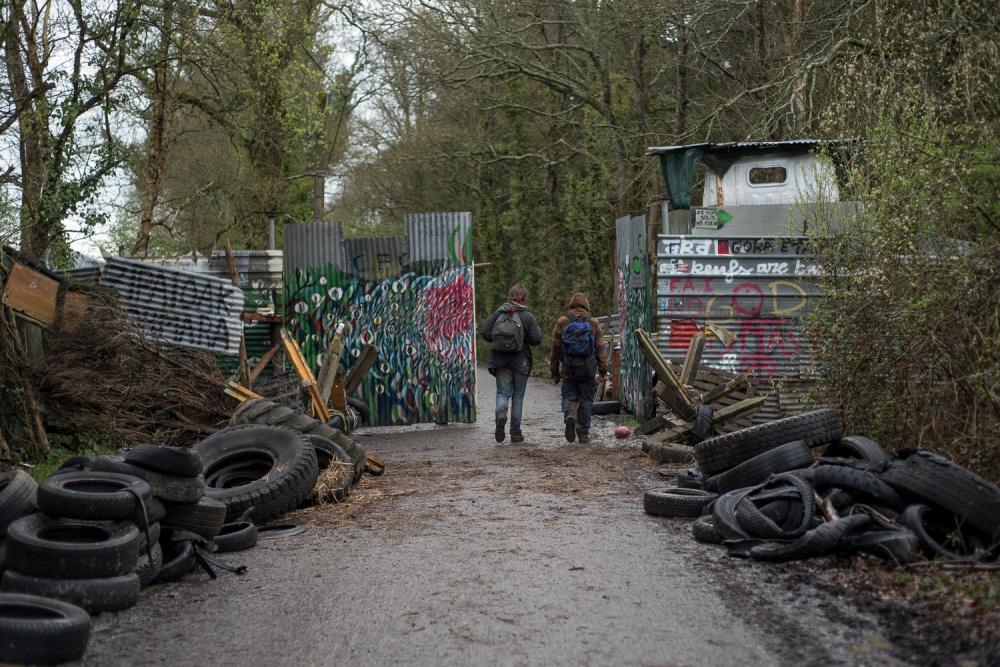 Evictions in ZAD de Notre Dames de Landes, March 2018